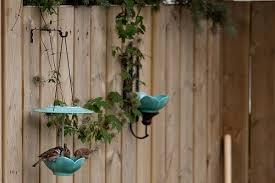 Diy Wall Mounted Bird Feeder And Bird Bath Offbeat Home Life Diy Bird Bath Bird Bath Diy Bird Feeder