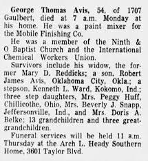 1966 Obituary George Avis - Newspapers.com