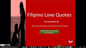 filipino love quotes translated to english love quotes