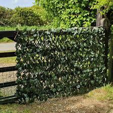 Artificial Leaf Trellis Screen Expanding Garden Fence Privacy Screening 1m X 2m 5060297018916 Ebay