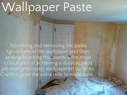 wallpaper paste removal before painting