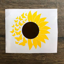 Sunflower Decal Butterfly Adhesive Vinyl Etsy Cute Car Decals Adhesive Vinyl Expressions Vinyl