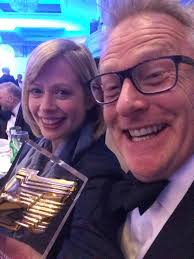 """Polly Evans on Twitter: """"Thanks for the lovely messages about our  @RTS_media award - one last gratuitously self indulgent snap of @rdsmithTW  & I looking quite happy… https://t.co/SWFvYqEv66"""""""