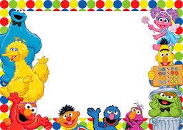 Free Printable Sesame Street Invitation Templates Invitaciones