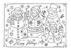 Kleurplaten Placemats Kerst Kleurplaat