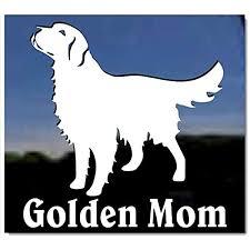 Amazon Com Golden Mom Golden Retriever Vinyl Window Decal Dog Sticker Kitchen Dining