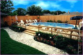 Backyard Above Ground Pool Ideas Intex Fencing Pools Decks Idea Home Elements And Style Back Yard With Stone Swimming Packages Small Large Crismatec Com