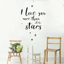 Love Romance Quote Wall Sticker Decal I Love You More Than All The Stars Vinyl Word Family Livingroom Bedroom Decals Decor Lc336 Wall Sticker Quote Wall Stickersticker Decal Aliexpress