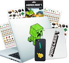 Amazon Com Minecraft Laptop Stickers Ultimate Set Bundle Includes 10 Premium Minecraft Decals For Room Decor Car Macbook Phone And 300 Minecraft Stickers Toys Games