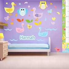 Duck And Owl Wall Decals Personalized Kids Room Wall Decor