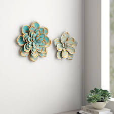 multiple layer metal flower wall