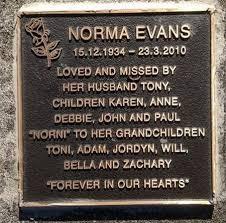 Gisborne District Council - Cemetery Database - Norma Myrtle Evans