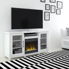 white tv stand with fireplace 54 inch