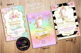 Invitacion Digital Para Whatsapp Personalizadas Unicornio 150