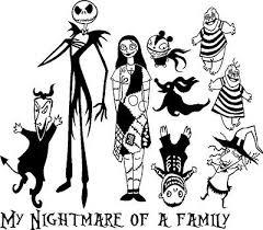 Nightmare Before Christmas Jack Sally Custom Family Car Window Decal 15 99 Picclick