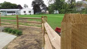 How To Install A 3 Split Rail Fence Youtube