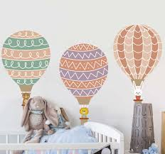 Baby Balloons Illustration Decal Tenstickers