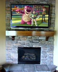 mount the tv above the fireplace