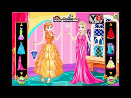 elsa with anna dress up game y8
