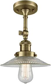 1 light semi flush mount antique brass
