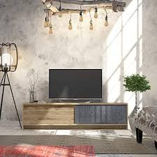 Decorotika Fun Osco Tv Stand And Media Console Great For Kids Room White And Teak Television Stands Entertainment Centers