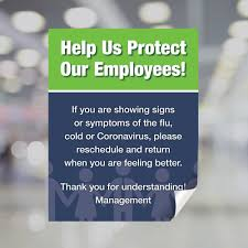 Help Us Protect Our Employees Window Decal Plum Grove