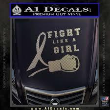 Breast Cancer Ribbon Sticker Vinyl Decal Wall Bow Car Window Laptop Fight Girl