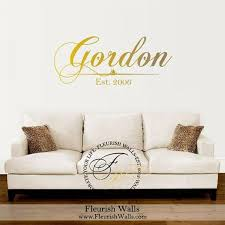 Last Name Decal Personalized Vinyl Wall Decal With Vinyl Wall Decals Monogram Wall Decals Vinyl Wall