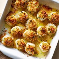 Parmesan-Crusted Baked Scallops Recipe ...