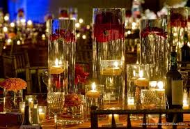 depth of tall glass vase centerpieces