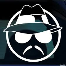 Decal Serious Smiley Wearing A Hat Glasses And A Mustache Buy Vinyl Decals For Car Or Interior Decal Factory Stickerpro Different Colors And Sizes Is Avalable Free World Wide Delivery