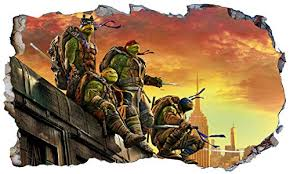 Compare Prices For Tmnt Teenage Mutant Ninja Turtles Wall Crack Across All Amazon European Stores