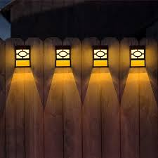 Amazon Com Solar Deck Lights 6 Packs 2 Modes Outdoor Garden Decorative Fence Post Lighting Black Home Kitchen