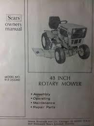 sears suburban garden tractor 48 mower