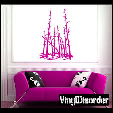 Landscape Tree Line Wall Decal Vinyl Decal Car Decal Ns013 Car Decals Vinyl Vinyl Wall Decals Tree Wall Decal