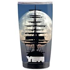 Skin Decal Vinyl Wrap 5 Piece Kit For Yeti 20 Oz Rambler Tumbler Stickers Skins Cover Cup Tall Sailboat Ship In Full Moon Walmart Com Walmart Com