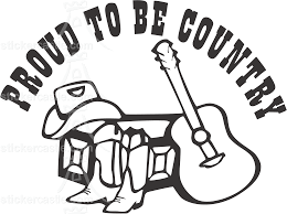 Country Western Sticker Decal Vinyl Decal Stickers Decal Wall Art Vinyl Decals