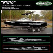 Boat Graphics Decal Sticker Kit Euro 1800 Marine Cast Vinyl Sticker Kits Marine Boat