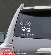 This Lady Has Claws Cat Car Decal Lady Car Decal Cat Car Etsy