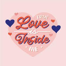 true love is inside me lettering free