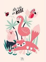 la vie en rose 30 x 40 cm poster