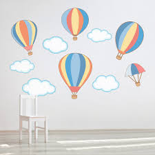 Hot Air Balloon Wall Decals Hot Air Balloon Nursery Wall Stickers