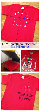 Htv Shirt Decal Placement And Size Tips And Resources Silhouette School