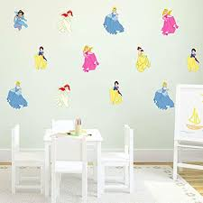 Amazon Com Princesses Wall Decals Disney Wall Decal Vinyl Mural Decor Art Decal Sticker Party Birthday Room Removable Wall Sticker Cik2458 Handmade