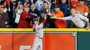 Boston Red Sox's Mookie Betts to catch ball