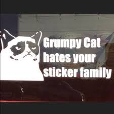 Accessories Grumpy Cat Hatesyour Stick Family Car Decal Final Poshmark