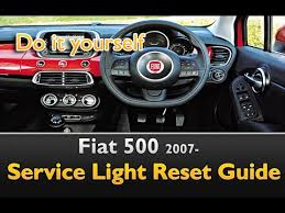 fiat 500 service light reset oil life