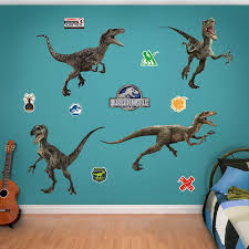 Fathead Nbc Unersal Raptor Jurassic World Peel And Stick Wall Decal Wayfair
