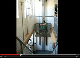 awesomely homemade wheelchair lift