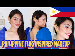 philippine flag inspired makeup 2018